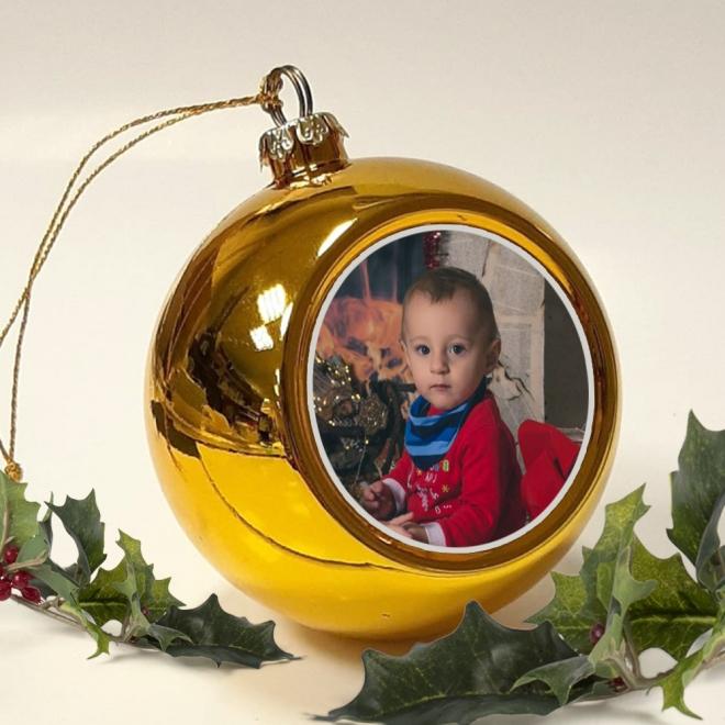 Glob  personalizat cu foto -  auriu