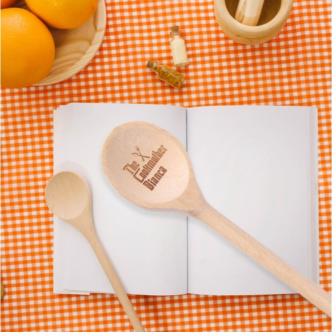 Lingura lemn personalizata - The cookmother