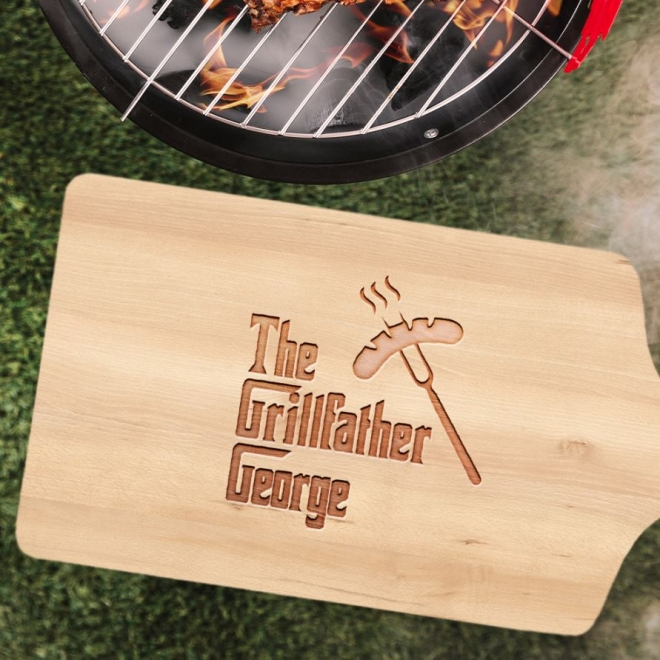 Tocator lemn personalizat - The grillfather 35x16 cm