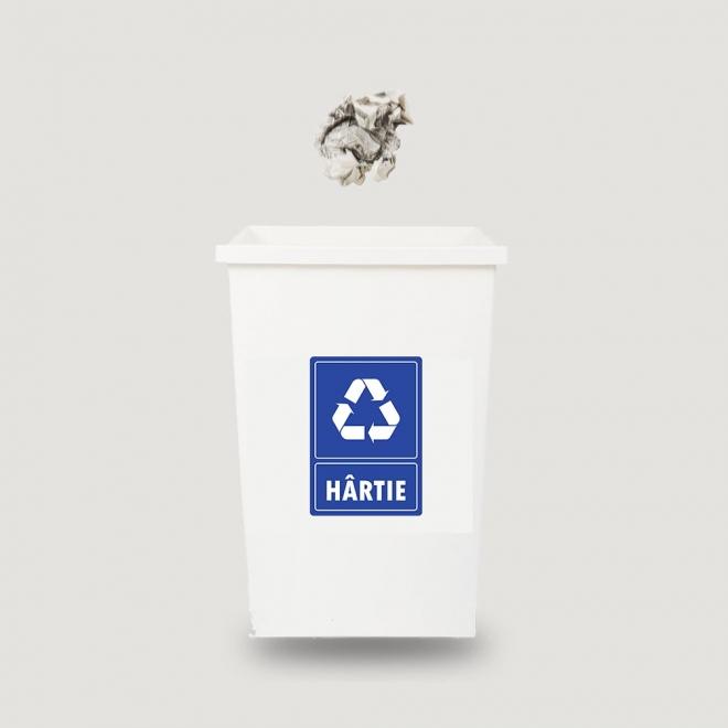 Eticheta autocolant colectare selectiva - HARTIE - 21x30 cm