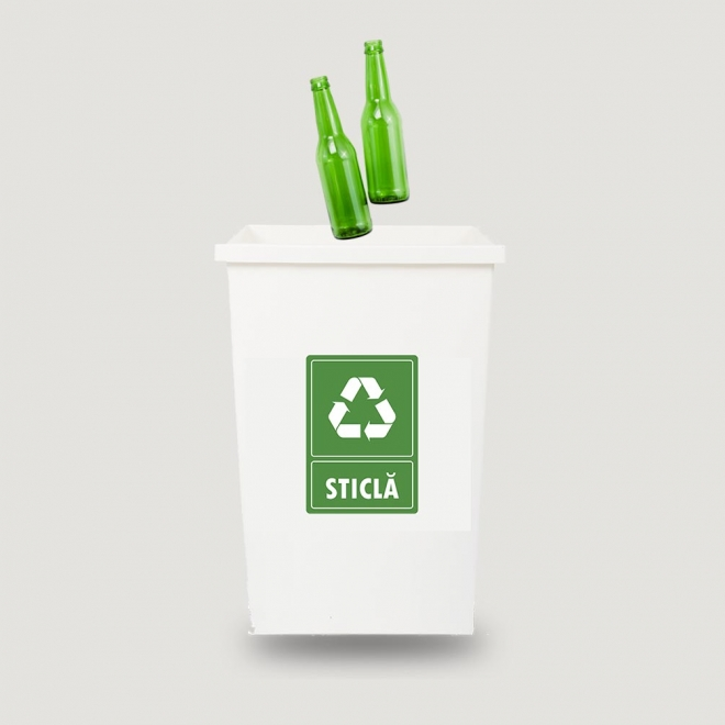 Eticheta autocolant colectare selectiva - STICLA - 21x30 cm