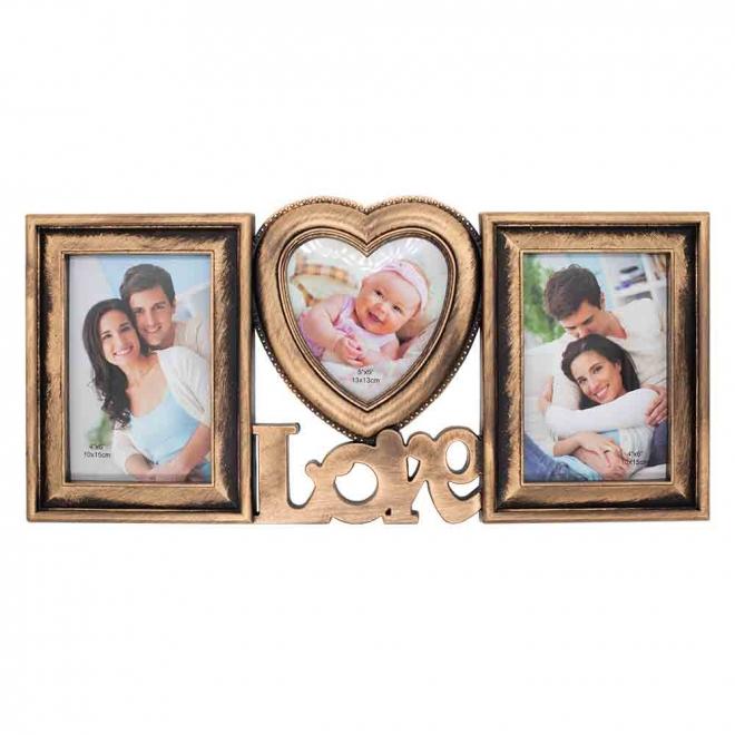 Rama foto colaj 3 fotografii LOVE vintage