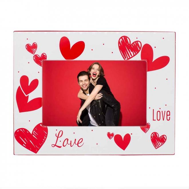 Rama foto orizontala catifea LOVE