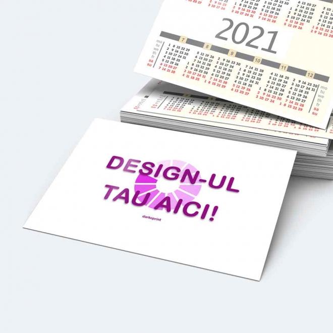 Calendar buzunar personalizat plastifiat