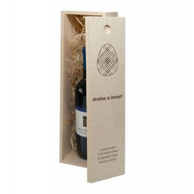 Cutie vin personalizata - mesaj Paste