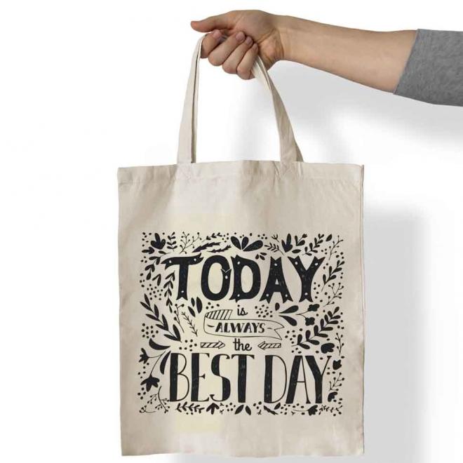 Sacosa personalizata cu mesaj - Today
