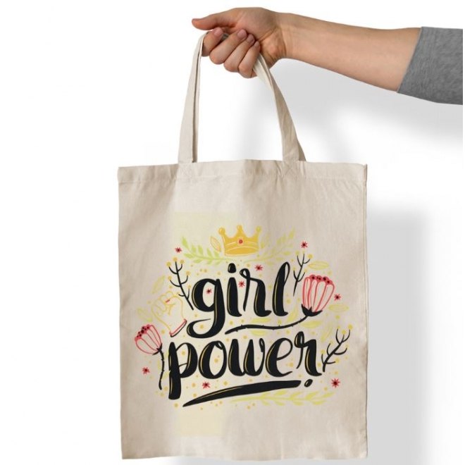 Sacosa personalizata cu mesaj - Girl Power