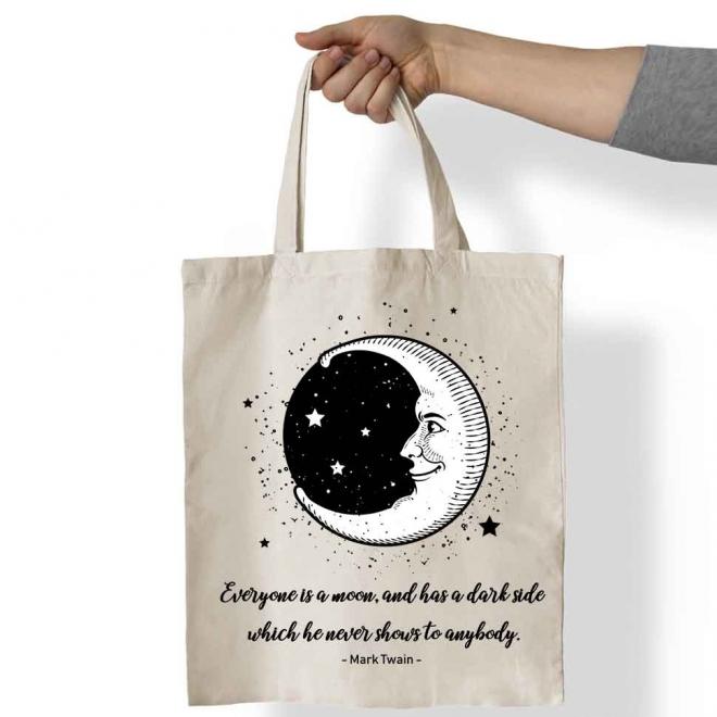 Sacosa bumbac personalizata Luna