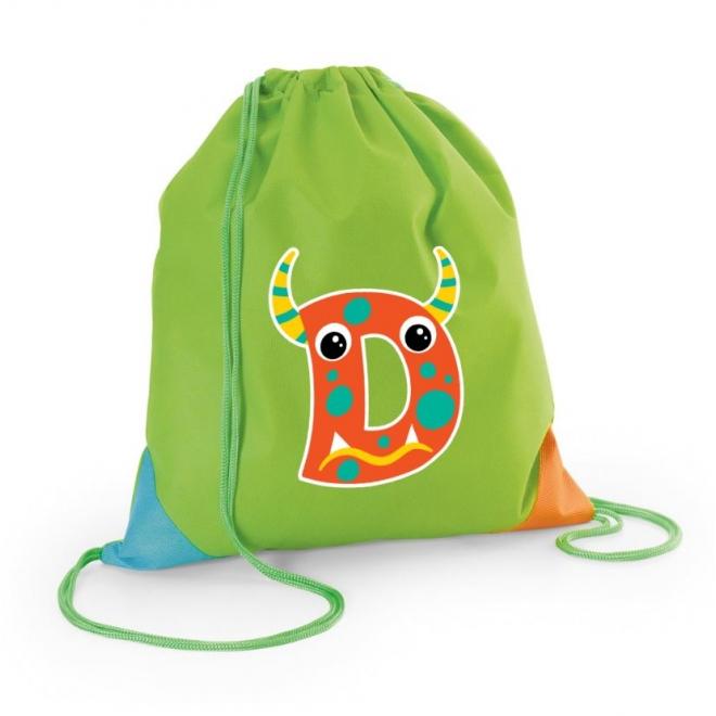 Rucsac personalizat initiala Monster - verde