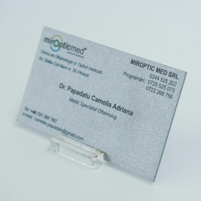 Carti de vizita carton perlat metalizat