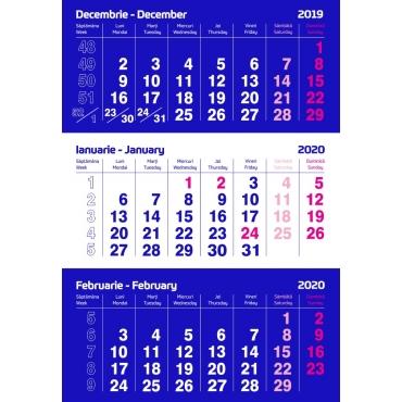 Calendar perete triptic 2021