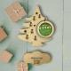 Decoratiune Craciun din lemn personalizata