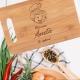Tocator bambus personalizat - Mamaie te iubim 36x26 cm