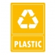 Eticheta autocolant colectare selectiva - PLASTIC - text alb - 21x30 cm