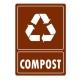 Eticheta autocolant colectare selectiva - COMPOST - 21x30 cm
