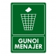 Eticheta autocolant colectare selectiva - GUNOI MENAJER - 21x30 cm