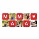 Cana alba personalizata colaj 5 foto + text MAMA