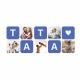 Cana alba personalizata colaj 5 foto + text TATA