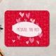 Mouse pad dreptunghiular personalizat cu mesaj si inimioare