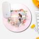 Mouse pad rotund personalizat cu fotografie si flori