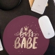 Mouse pad rotund - Boss Babe
