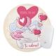 Mouse pad rotund - Mesaj Valentine's Day