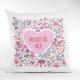 Perna patrata Valentine's Day personalizata cu mesaj
