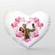 Perna personalizata in forma de inima cu 1 fotografie sau mesaj