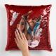 Perna cu paiete rosii personalizata cu 1 fotografie