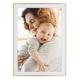 Rama foto 21x30 personalizata cu 1 foto - rose gold + alb