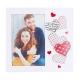 Rama foto personalizata, 1 fotografie 10x15 - Hearts