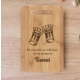 Tocator bambus personalizat urare Florii